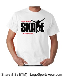 Ollie North Skate tee Design Zoom